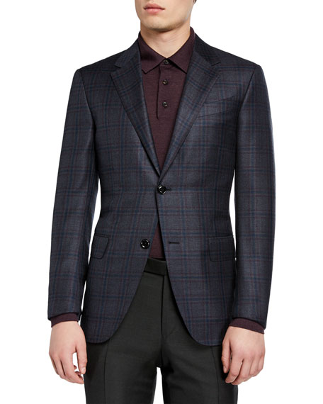 Ermenegildo Zegna Men's Plaid Wool Regular-Fit Sport Jacket