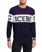 Iceberg Men's Colorblock Logo Crewneck Sweater