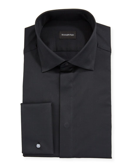 Ermenegildo Zegna Men's Bib-Front Formal Trim-Fit Dress Shirt