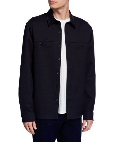 Men's Double-Face Twill Shirt Jacket
