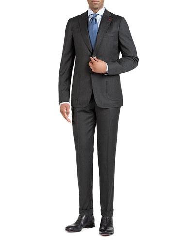 Men's Tonal Box-Check Two-Piece Suit