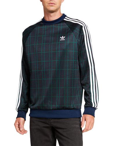 Men's Tartan Crewneck Sweatshirt