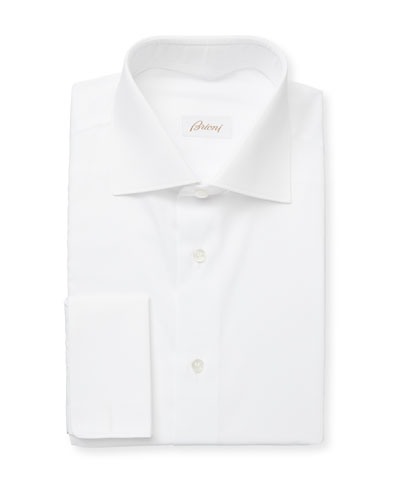 Men's Horizontal-Textured Cotton Dress Shirt