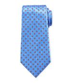 Ermenegildo Zegna Men's Hexagon-Print Silk Tie, Light Blue