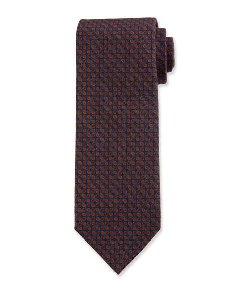 Ermenegildo Zegna Men's Connected Petals Wool Tie