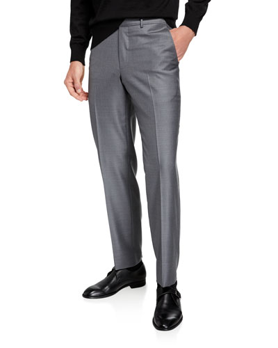 Men's Twill Straight-Leg Trousers