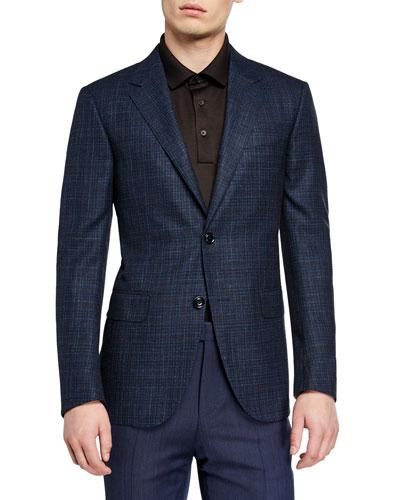Men's Wool-Blend Check Sport Coat