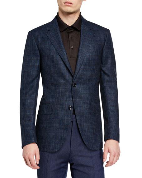 Ermenegildo Zegna Men's Wool-Blend Check Regular-Fit Sport Coat