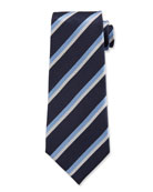 Ermenegildo Zegna Men's Double-Stripe Silk Tie