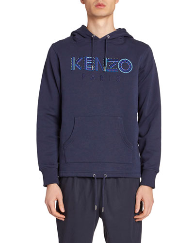 Men's Logo-Embroidery Pullover Hoodie