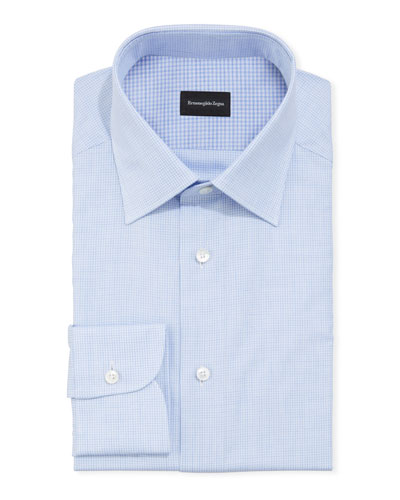 Men's Gingham Check Dress Shirt