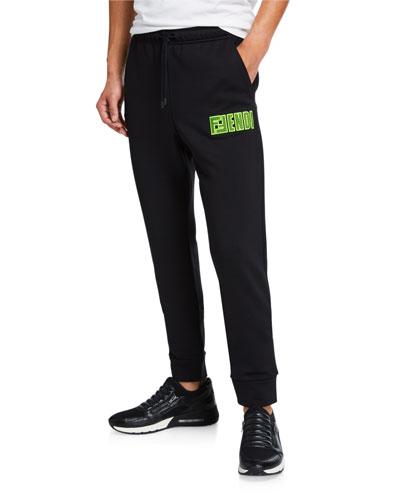 Men's Sweatpants w/ Logo Mesh