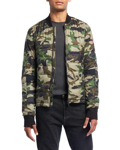 Men's Dunham Camo-Print Bomber Jacket