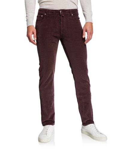 Men's 5-Pocket Stretch-Corduroy Pants