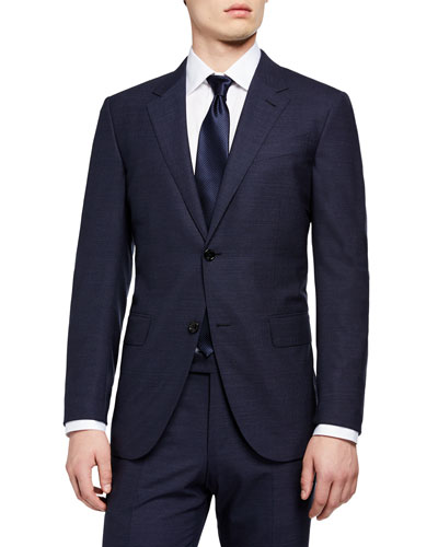 Men's Trecapi Solid Two-Piece Suit