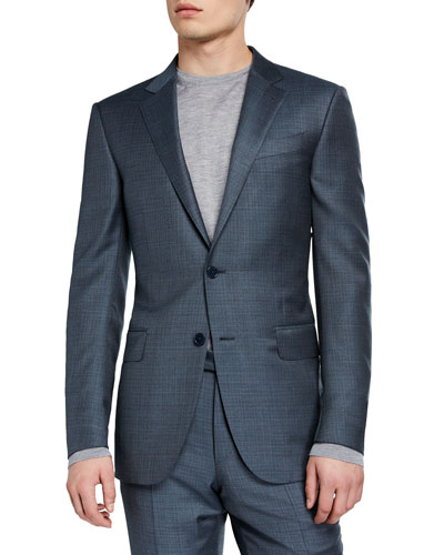 Men's Two-Piece Textured Solid Suit