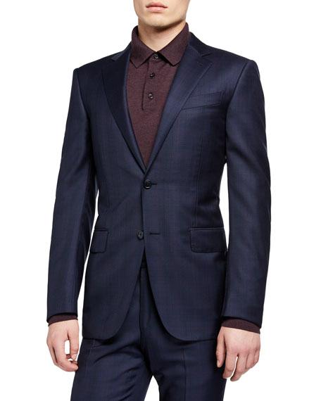 Ermenegildo Zegna Men's Two-Piece Plaid Regular-Fit Wool Suit