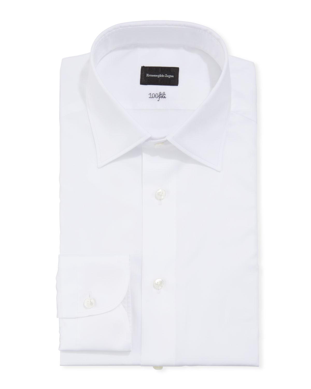 Men's Solid Cento Fili Cotton Regular-Fit Dress Shirt