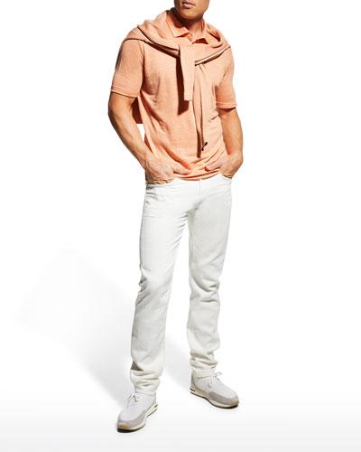 Men's Linen Jersey Dublon Polo Shirt