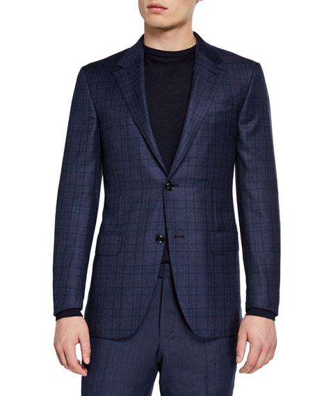 Ermenegildo Zegna Men's Plaid Wool Regular-Fit Sport Coat
