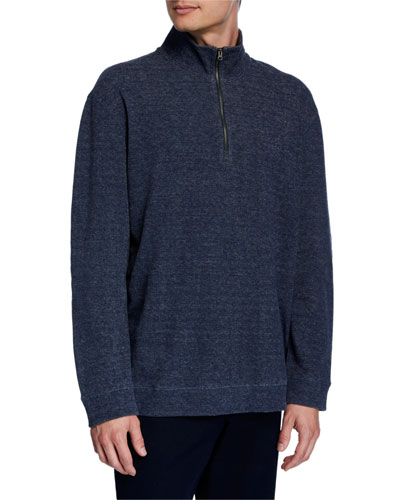 Men's Quater-Zip Cotton Sweater
