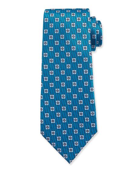 Ermenegildo Zegna Men's Spaced Squares Silk Tie