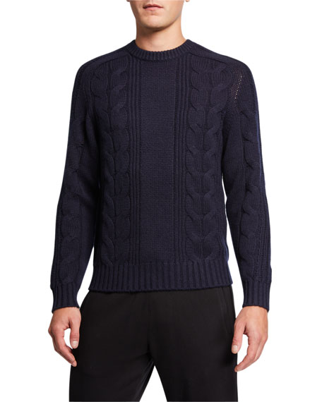 Vince Men's Cable-Knit Wool-Cashmere Sweater