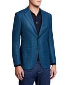 Ermenegildo Zegna Men's Solid Wool-Blend Blazer