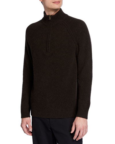 Men's Quarter-Zip Yak/Merino  Sweater