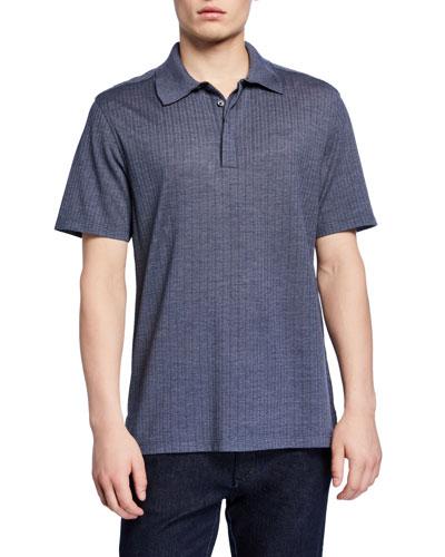 6598ea630d Ermenegildo Zegna Blue Polo Shirt | Neiman Marcus