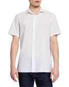 Ermenegildo Zegna Men's Seersucker Short-Sleeve Sport Shirt,