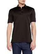 Ermenegildo Zegna Men's Pique Polo Shirt, Dark Brown
