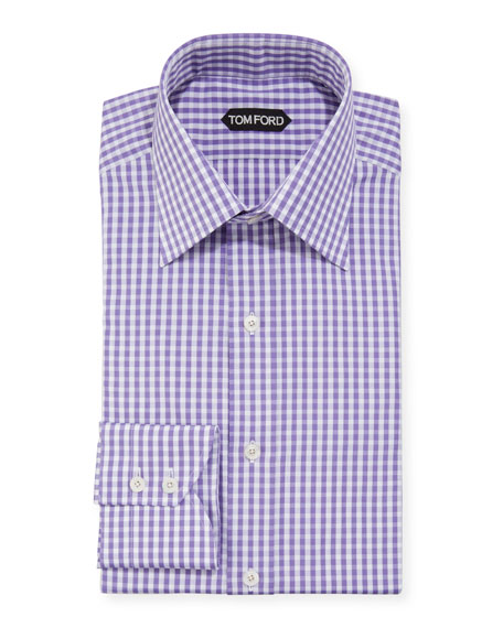 TOM FORD Men's Gingham Check Dress Shirt