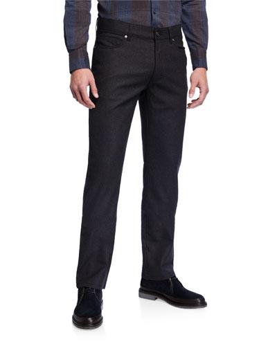 Men's Straight-Leg Wool Stretch Pants