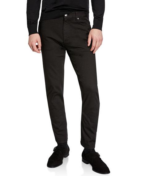 Ermenegildo Zegna Men's 5-Pocket Canvas Regular-Fit Pants