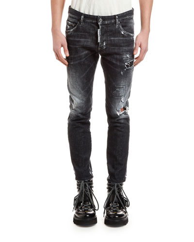Men's Distressed Skater Jeans