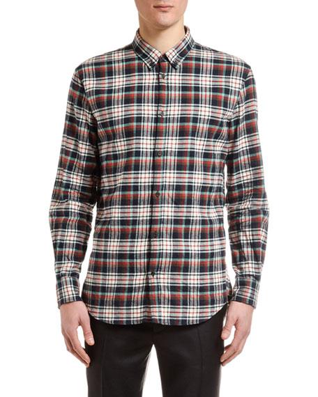 Dsquared2 Men's Plaid Flannel Sport Shirt