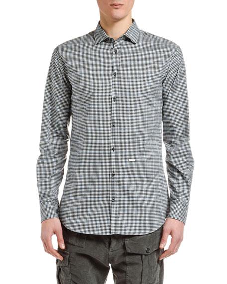 Dsquared2 Men's Plaid Check Sport Shirt