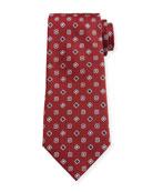Ermenegildo Zegna Men's Classic Foulard Silk Tie