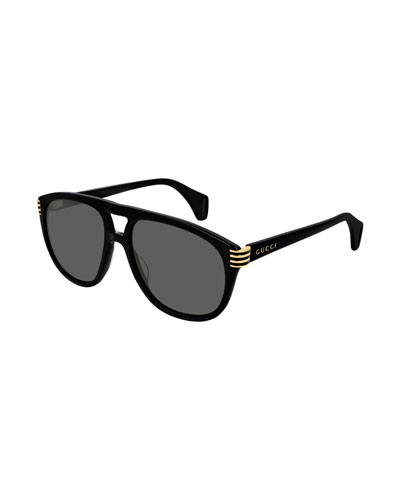 Men's Round Acetate Sunglasses