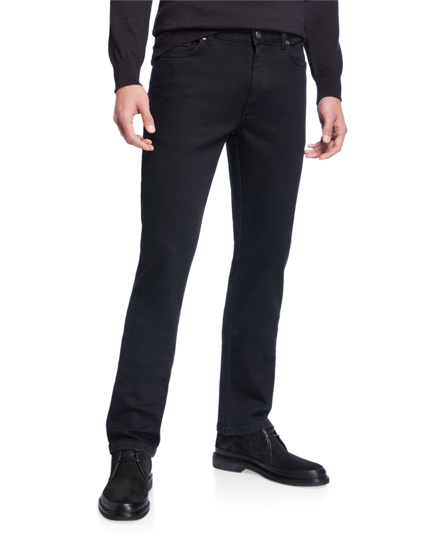 Ermenegildo Zegna Jeans MEN'S 5-POCKET STRAIGHT-LEG JEANS