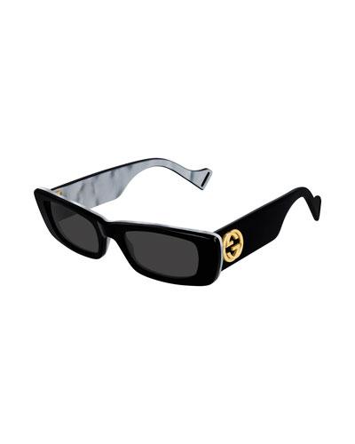 Men's Double-Layer Contrast Frame Sunglasses