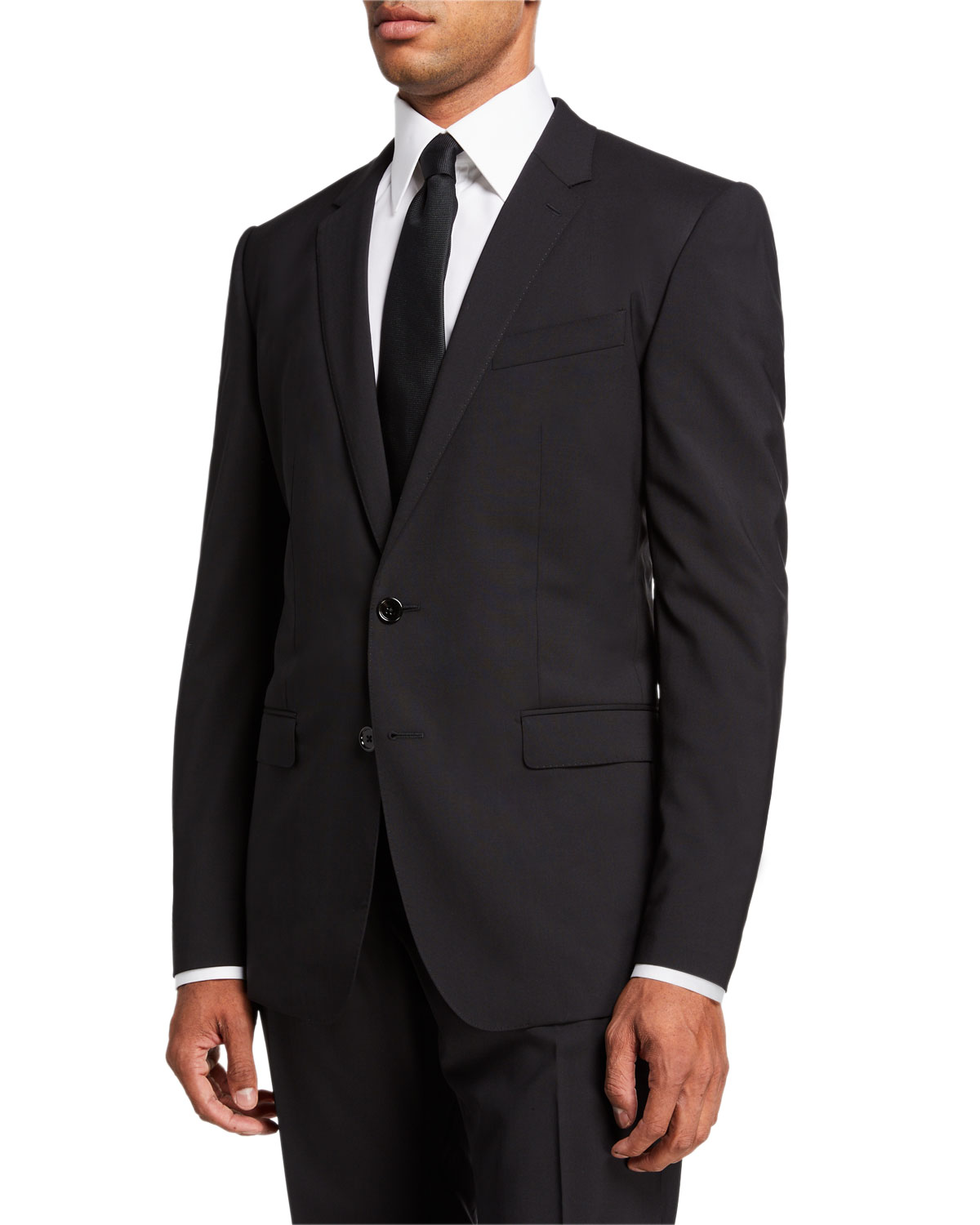 Men's Martini Solid Stretch-Wool Two-Piece Suit