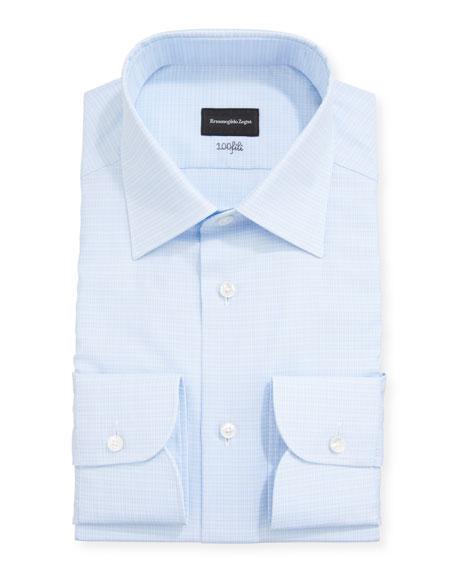 Ermenegildo Zegna Men's Check Regular-Fit Dress Shirt