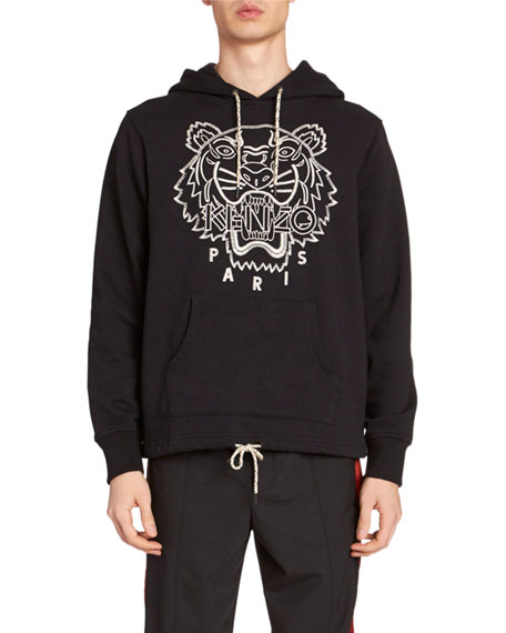 Kenzo Men's Blanket Stitch Tiger Hoodie