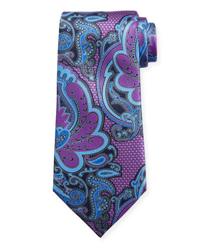 Exploded Paisley Silk Tie