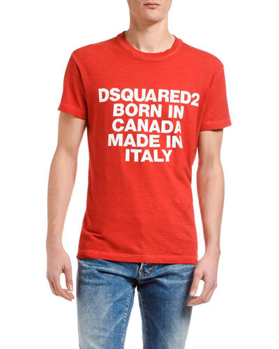 New Dsquared2 Men T-shirt Red