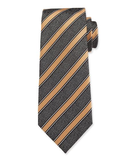 Ermenegildo Zegna Men's Striped Silk Tie
