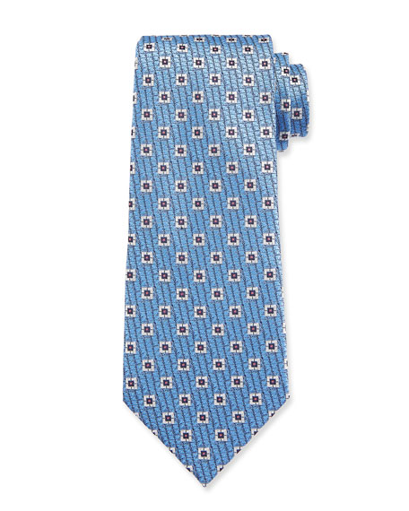 Ermenegildo Zegna Men's Spaced Squares Silk Tie