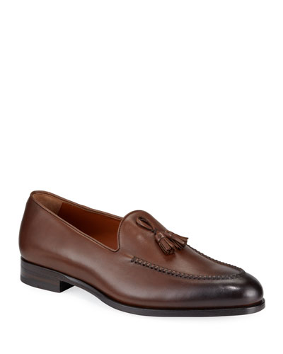 Men's Parma X-Stitched Tassel Loafers